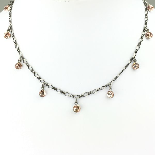 Konplott Tutui vintage rose Halskette steinbesetzt #5450527591645