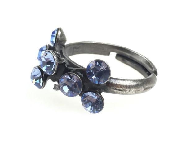 Konplott Magic Fireball 8 Stein Ring in light sapphire, hellblau #5450527612050