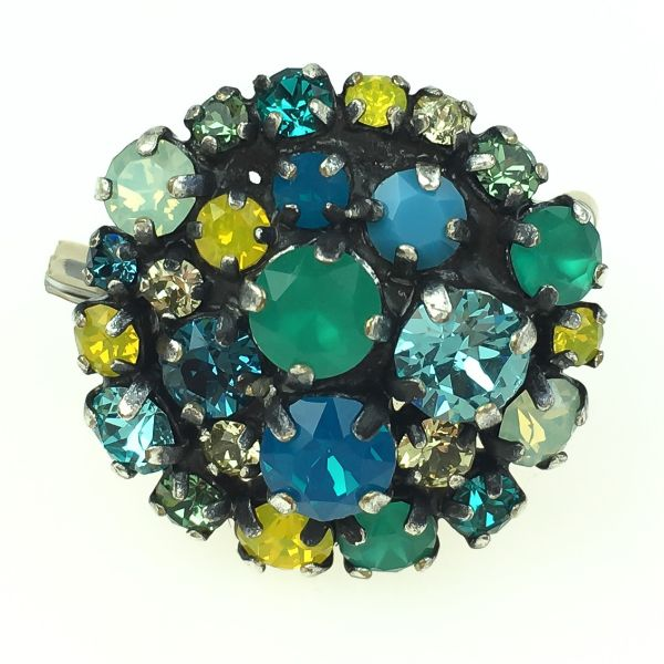 Konplott Ballroom Ring grün, blau, gelb #5450543485614