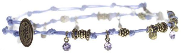 Konplott Festival Anklet Fußkette lila Messing #5450543746920