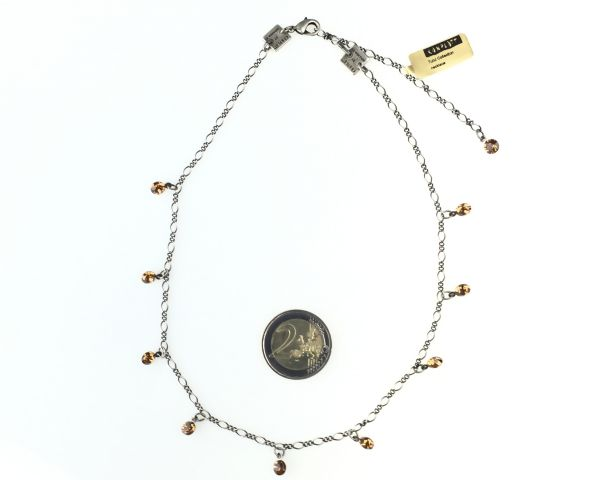 Konplott Tutui light smoked topaz Halskette steinbesetzt, hellbraun #5450527641074