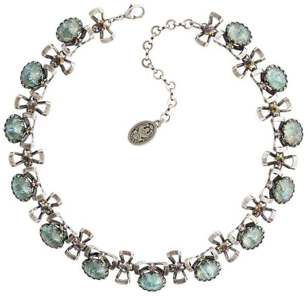 Konplott Dracula Bride Choker Halskette in hellblau #5450543674568