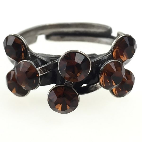 Konplott Magic Fireball 8 Stein Ring in smoked topaz, braun #5450527640169