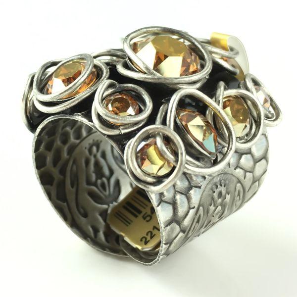 Konplott Sparkle Twist brauner Ring #5450543470078