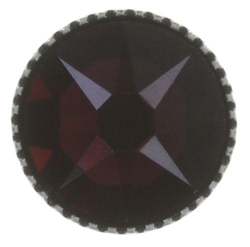 Konplott Black Jack Ohrstecker groß in lila crystal burgundy #5450543768823