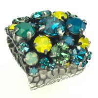 Konplott Ballroom Ring grün, blau, gelb #5450543485577