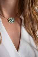 Magic Fireball chrysolite grün opal Halskette mit Anhänger