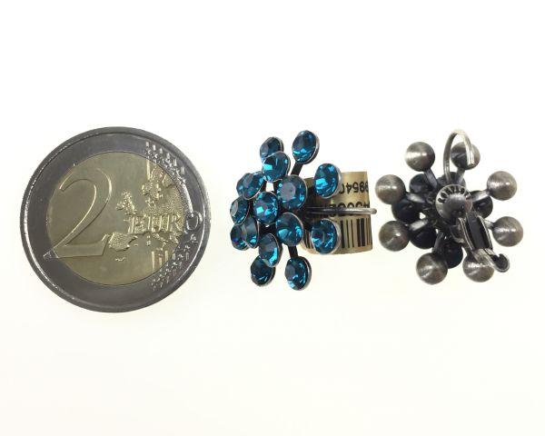 Konplott Magic Fireball Ohrhänger mit Klappverschluss in indicolite, blau #5450527640220