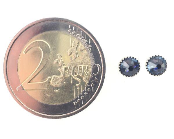 Konplott Black Jack Ohrstecker klassisch rund klein in denim blue #5450527885010