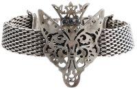 Konplott The Fox Armband Fuchs mit Krone, schwarze Steine #5450543693200