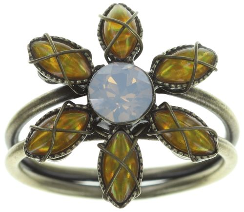 Konplott Psychodahlia Ring in gelb Messing #5450543734088