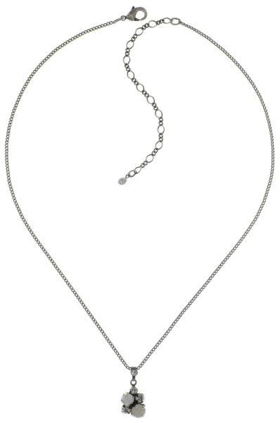 Konplott Ballroom Classic Glam Halskette mit Anhänger in weiß #5450543654089