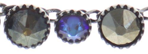 Konplott Water Cascade steinbesetzte Halskette in blau/braun #5450543772912