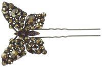 Konplott Lost Garden Haarnadel beige/pink, Schmetterling #5450543652528
