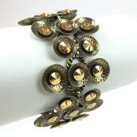 Konplott Rivoli Concave gelb crystal metallic sunshine Armband verschließbar #5450543325750