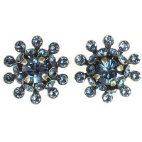 Konplott Pool-Side Flower blaue Ohrstecker klassisch #5450543451466