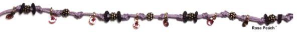Konplott Festival Anklet Fußkette rosa/lila Messing #5450543746968