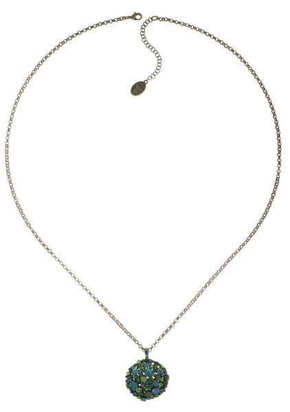 Konplott Ballroom Halskette mit Anhänger in blau/grün #5450543725826