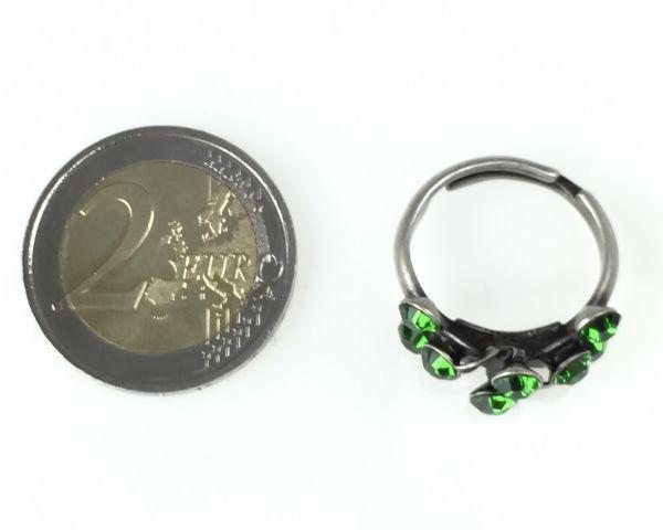 Konplott Magic Fireball 8 Stein Ring in Farn grün #5450527778312