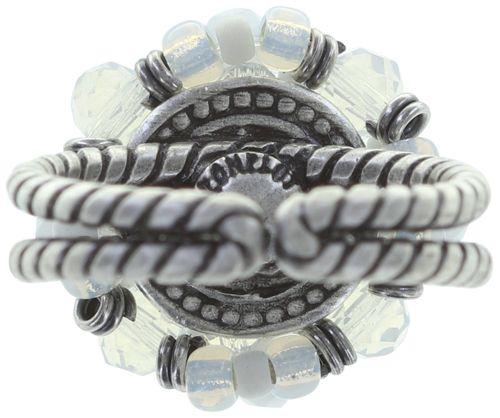 Konplott Beat of the Beads Ring in weiß #5450543718972
