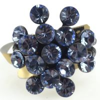Konplott Magic Fireball 16 Stein Ring in light sapphire, hellblau