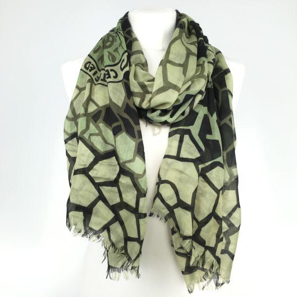 Konplott The Big 25 Halstuch in schwarz/grün/khaki #5450543506586