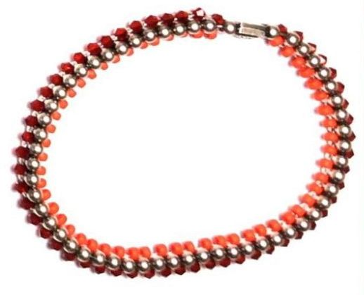 Konplott Bead Snakes elastisches Armband rot #5450543662411