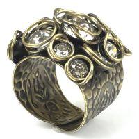 Konplott Sparkle Twist weißer Ring #5450543340517