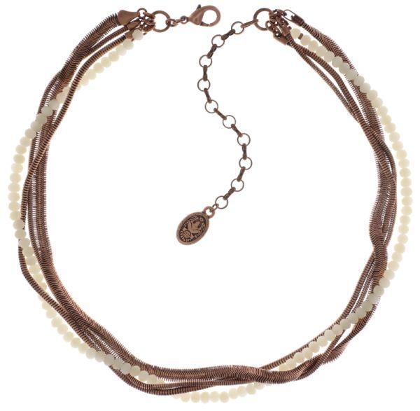 Konplott Chameleon Halskette in weiß #5450543712871