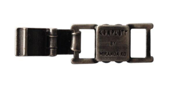 Konplott Armband Verlängerung groß in dunklem silber/schwarz #5450527800471