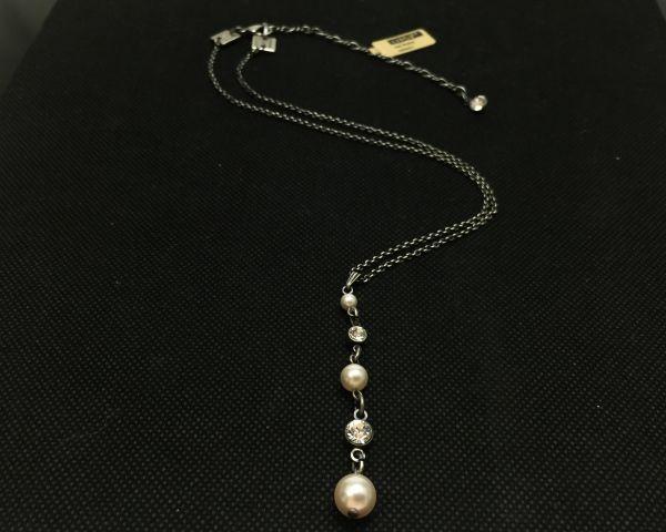 Konplott Pearl Shadow crystal Halskette in Y-Form #5450527598910