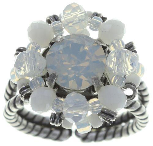 Konplott Beat of the Beads Ring in weiß #5450543718910