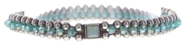 Konplott Bead Snakes elastisches Armband blau/grün #5450543662367