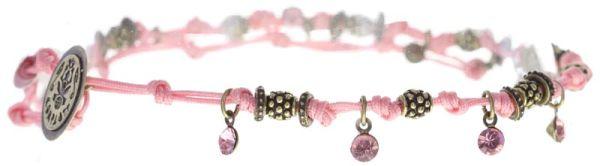 Konplott Festival Anklet Fußkette rosa Messing #5450543746999