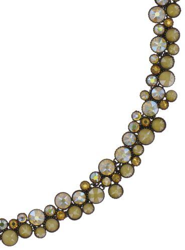 Konplott Inside Out steinbesetzte Halskette in gelb - Gebraucht wie neu #5450543727127