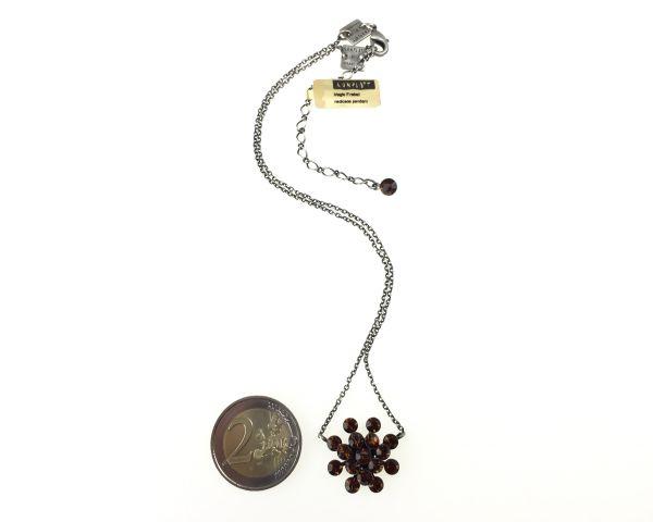 Konplott Magic Fireball Halskette mit Anhänger in smoked topaz, braun #5450527640121