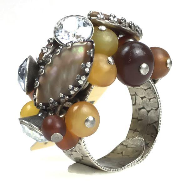 Konplott Earth, Wind & Glamour brauner Ring #5450543311180