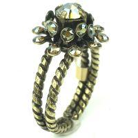 Konplott Pool-Side Flower brauner Ring #5450543459172