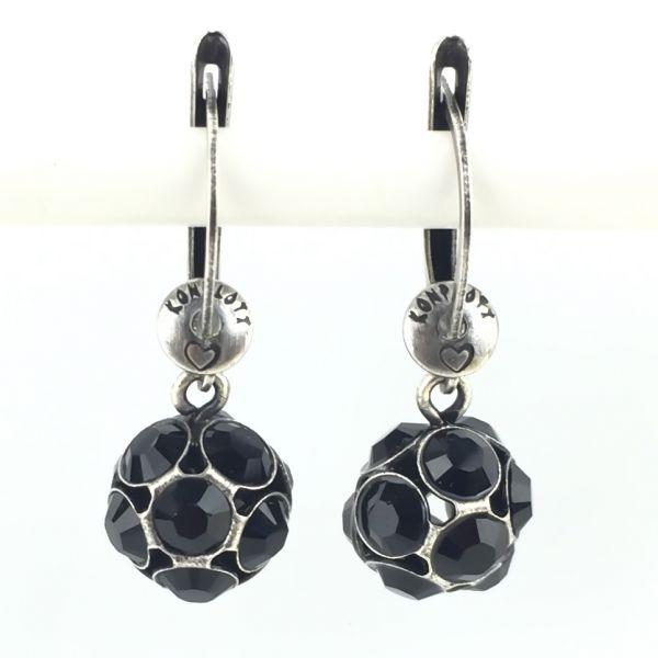 Konplott Disco Balls schwarze Ohrhänger mit längl. Verschluss #5450527598545