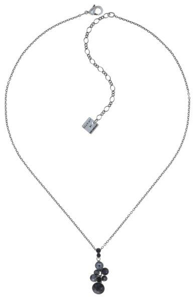 Water Cascade Halskette mit Anhänger in schwarz