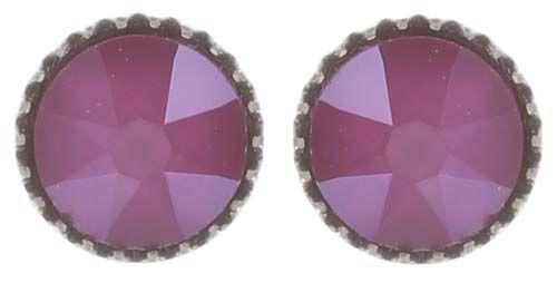 Konplott Black Jack Ohrstecker klassisch klein in pink crystal peony #5450543730677