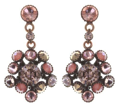 Konplott Caviar Treasure Ohrstecker hängend in beige/pink #5450543707259
