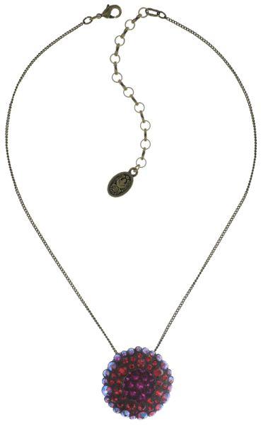 Konplott Inside Out Halskette mit Anhänger Größe L in scarlet rot #5450543675886