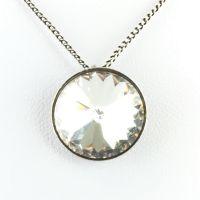 Konplott Rivoli crystal weiße Halskette mit Anhänger