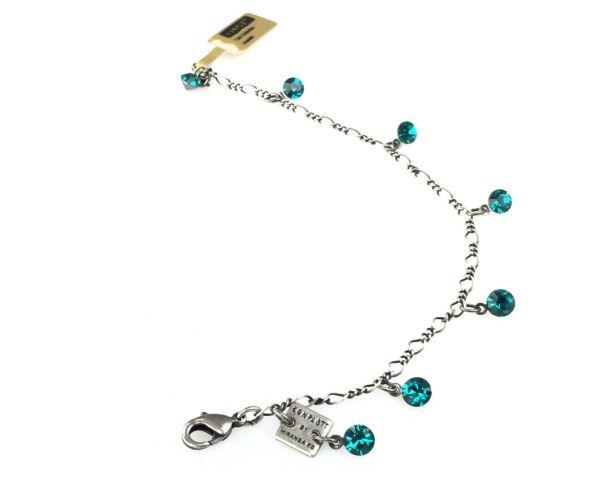 Konplott Tutui blue zircon Armband verschließbar, dunkeltürkis #5450527591577
