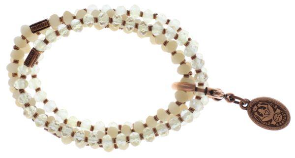 Konplott Petit Glamour d'Afrique Armband in weiß #5450543720807