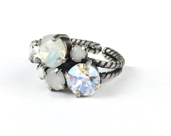 Konplott Ballroom Classic Glam weißer Ring #5450543487557