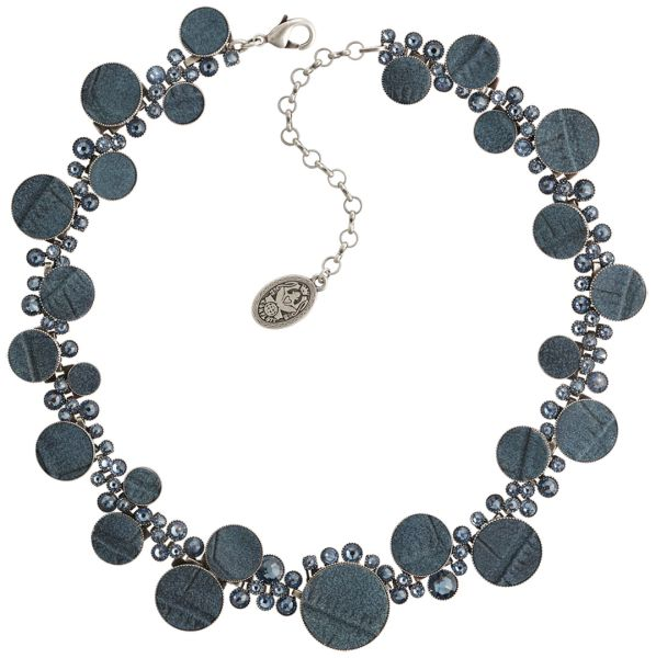 Konplott Planet River Halskette steinbesetzt in dunkel blau #5450543652054