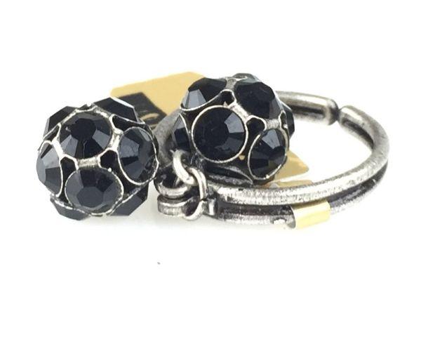 Konplott Disco Balls schwarzer Ring mit 2 Kugeln #5450527598576