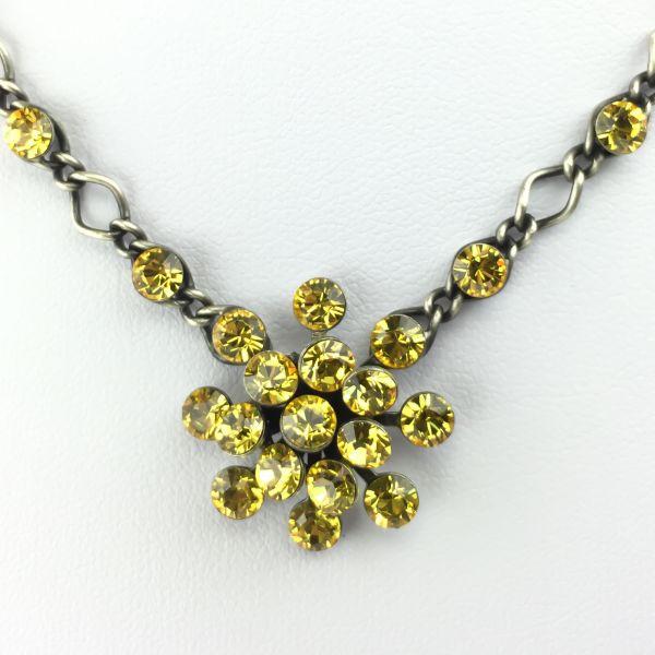 Konplott Magic Fireball Halskette steinbesetzt mit Anhänger in light topaz #5450527640596